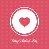 Valentines Day banner - cute and catchy pink design Stock Photos