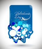 Valentines day banner design Stock Images