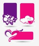 Valentines day banner design Stock Photo