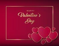 Valentines Day Banner. Luxury Golden Typographic Valentine`s Day Design vector illustration