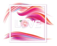 Valentines day. Banner with pink red abstract background  Royalty Free Stock Image