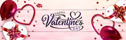 Valentines Day Banner royalty free illustration