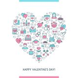 Valentines day banner 2 Royalty Free Stock Photos