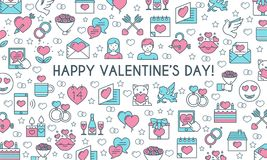 Valentines day banner Stock Image