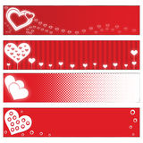 Valentines Day banners Stock Photos