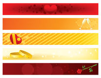 Valentines Day Banners. Valentines Day Banner Set Illustration Royalty Free Stock Photography
