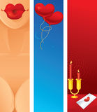 Valentines Day Banners Stock Images
