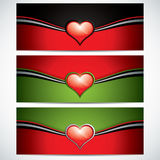 Valentines Day banners Royalty Free Stock Photography
