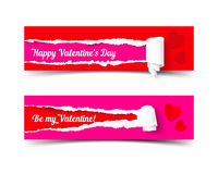 Valentines day banners set Royalty Free Stock Image