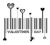 Valentines day barcode Stock Photography