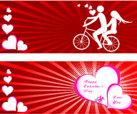 Valentines Day beautiful background with ornaments and heart. Royalty Free Stock Photography