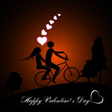 Valentines Day beautiful background with ornaments and heart. Stock Photo