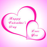 Valentines Day beautiful background with ornaments and heart. Royalty Free Stock Image