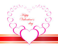 Valentines Day beautiful background with ornaments and heart. Stock Photography