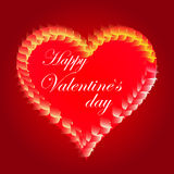 Valentines Day beautiful background with ornaments and heart. Stock Images