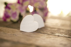 Valentines Day. Beckground with hearts Royalty Free Stock Images