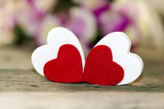 Valentines Day. Beckground with hearts Royalty Free Stock Photo