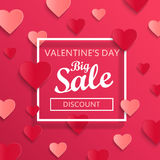 Valentines day big sale background. Stock Photography