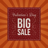 Valentines Day Big Sale dark red paper Sheet Stock Photography
