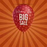 Valentines Day big Sale holiday red Balloon Royalty Free Stock Images