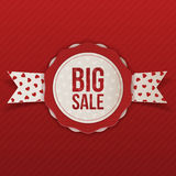 Valentines Day Big Sale vector Emblem with Text Stock Photography