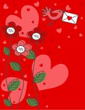 Valentines day or birthday greeting Royalty Free Stock Photos