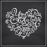 Valentines Day Blackboard background. Royalty Free Stock Photo