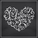 Valentines Day Blackboard background. Royalty Free Stock Images