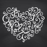 Valentines Day Blackboard background. Royalty Free Stock Photography