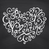 Valentines Day Blackboard background. Royalty Free Stock Photography