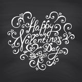 Valentines Day Blackboard background. Stock Photos