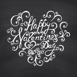Valentines Day Blackboard background. Stock Photos