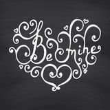 Valentines Day Blackboard background. Stock Photography