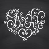 Valentines Day Blackboard background. Stock Photography