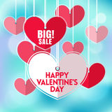 Valentines day Bokeh Background with heart mobile Stock Photos