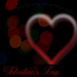Valentines Day bokeh heart Royalty Free Stock Photos