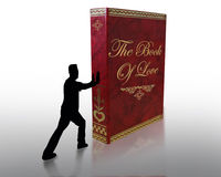 Valentines Day Book Of Love royalty free stock photo