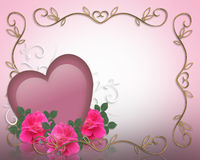 Valentines Day Border Background Stock Photos