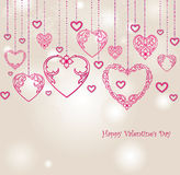 Valentines Day Border Design. Love heart  Valentines day backgro Royalty Free Stock Images