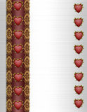 Valentines Day Border Fancy Royalty Free Stock Photos