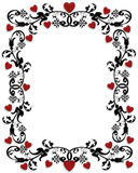 Valentines Day Border Frame. 3D Illustration for Valentines day ornamental frame, background, letter, invitation or border. Copy space Stock Photo