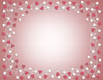 Valentines Day Border Hearts Stock Image