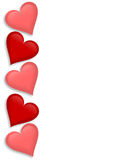 Valentines Day border Hearts 3D Stock Images
