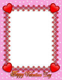 Valentines Day Border Hearts royalty free stock photo