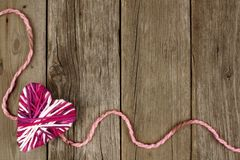 Valentines Day border on wood Stock Photography