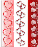 Valentines day Borders Hearts 3 styles