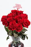 Valentines day bouquet stock images