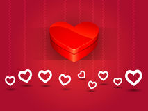 Valentines Day box of love heart Stock Photography