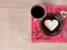 Valentines day breakfast Stock Images