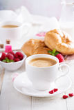 Valentines day breakfast with cooffee royalty free stock photos